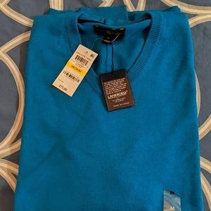Aqua Blue V-neck Sweater
